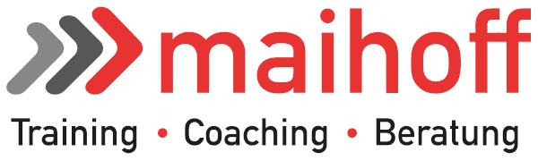 Firmenlogo Maihoff mit Untertitel Training Coaching Beratung